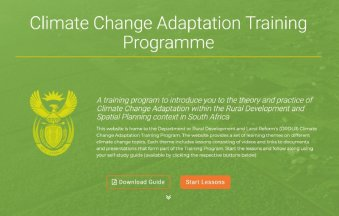 Urban Earth - A cover image for a lesson of the Climate Change Adaption Training Programme
