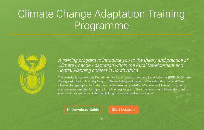 climate change adaption training programme